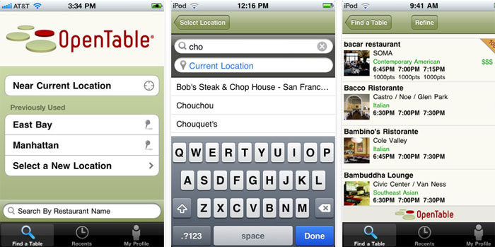 OpenTable (Best Free Apps)