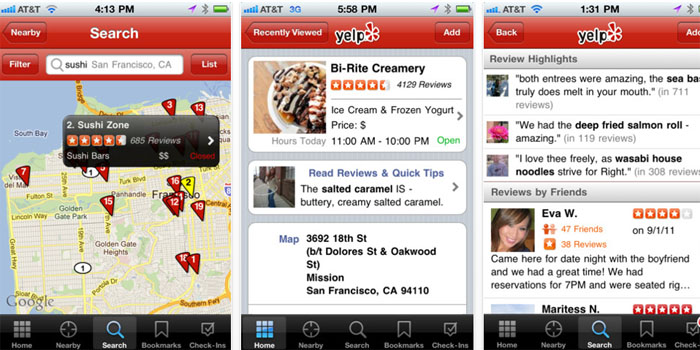 Yelp (Best Free Apps)